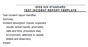 ISTQB incidence report template