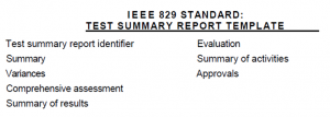 ISTQB test report template
